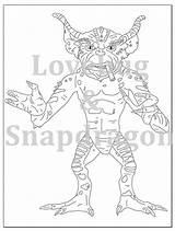 Gremlins Coloring Printable Drawing Gizmo Spike Template Pages Getdrawings sketch template