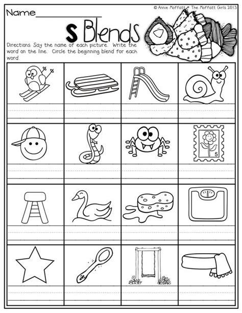 blending words for preschoolers s blends word work math winter and literacy 913
