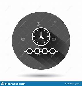 Timeline Icon In Flat Style  Progress Vector Illustration