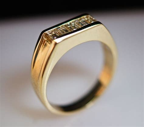 unique mens antique wedding rings with vintage scroll