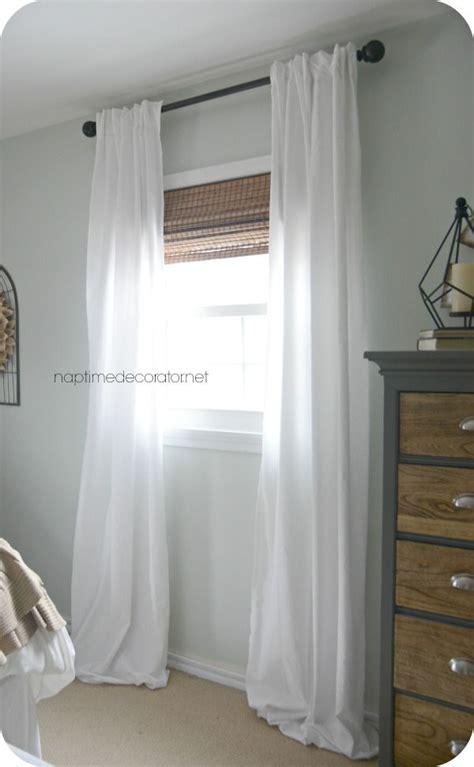 white curtains ideas  pinterest