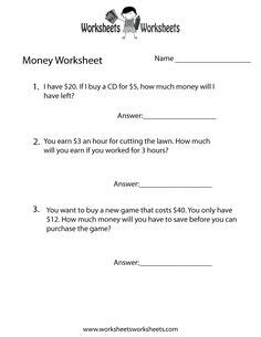 money word problems free printable worksheet grade 2 time money pinterest printable