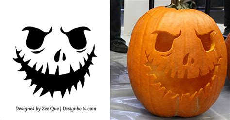 halloween scary pumpkin carving stencils