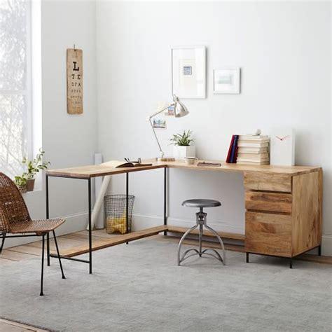 west elm desk industrial modular desk set west elm