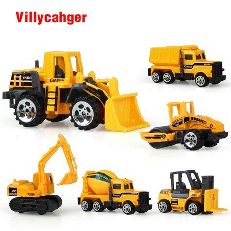 6 Types Diecast Mini Alloy Construction Vehicle