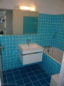 Peinture Salle De Bain Carrelage : carrelage bleu salle de bain ~ Dailycaller-alerts.com Idées de Décoration