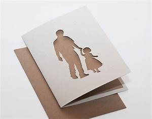 Father and Daughter Cut Silhouette Card with by ...