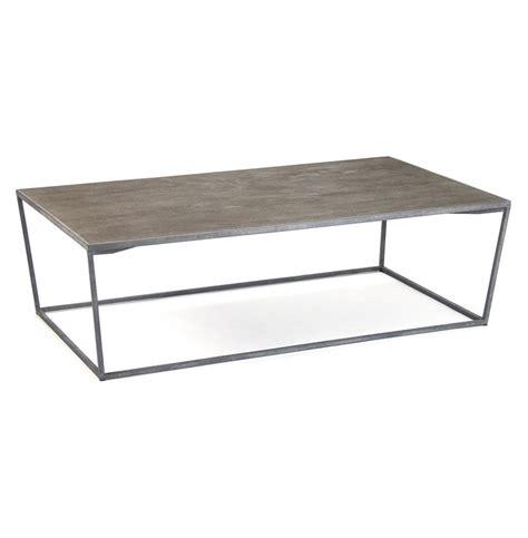 rustic gray coffee table bleecker modern rustic industrial grey steel reclaimed oak