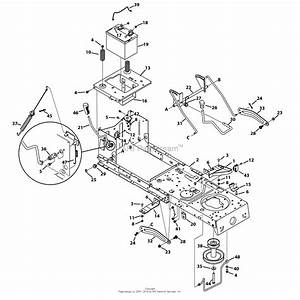 Mtd 13w2775s231  Lt4200   2013  Parts Diagram For Frame
