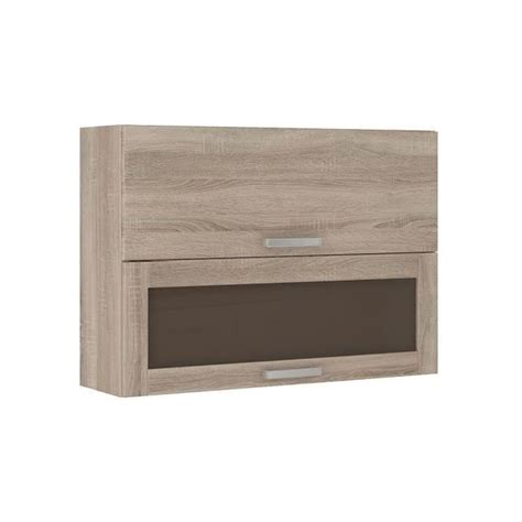 lassen meuble haut de cuisine vitr 233 80 cm d 233 cor ch 234 ne