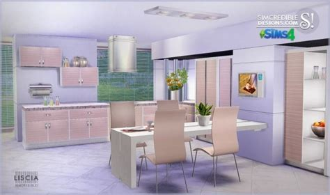 SIMcredible Designs: Liscia Kitchen ? Sims 4 Downloads