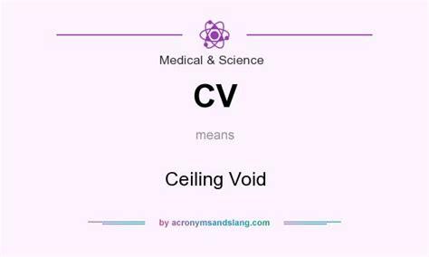 Ceiling Void In Medical & Science By Acronymsandslang.com