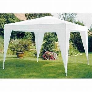 Tonnelle Tente De Jardin Pe 3 X 3 M Blanche Achat