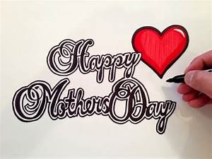 How to Draw Happy Mother's Day - YouTube