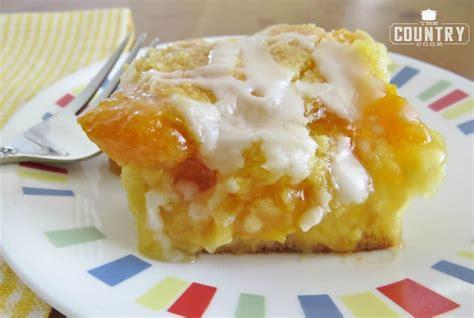 peach cobbler cake  country cook