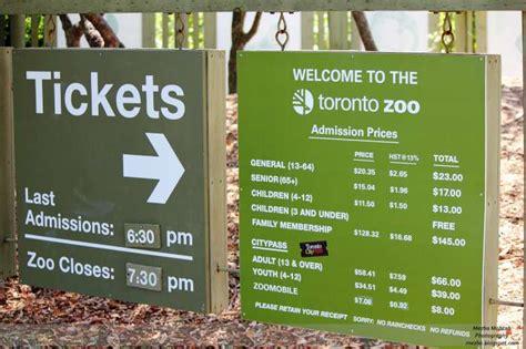 zoo toronto admission visit parking cheap