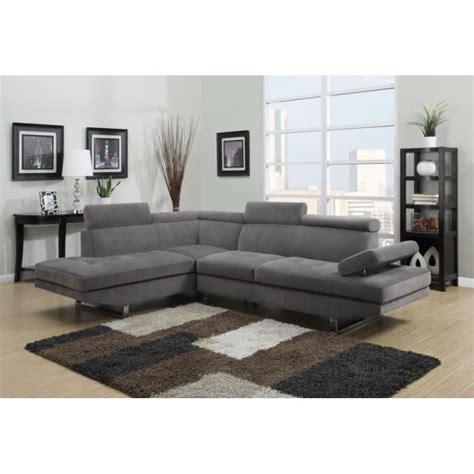 repose tête pour canapé canapé d 39 angle design gris tissu avec repose têtes achat