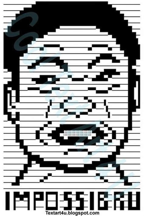 Meme Face Text - impossibru meme face ascii text art cool ascii text art 4 u