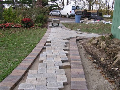 pictures of walkways with pavers a paver walkway fros carpentry