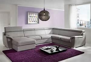 Grand Canapé D Angle : grand canap d 39 angle shane en u 6 places cuir ou tissu ~ Teatrodelosmanantiales.com Idées de Décoration