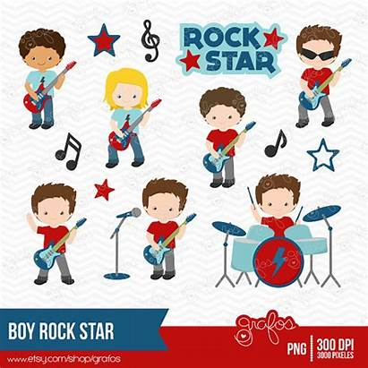 Rock Clipart Star Boy Rockstar Clip Birthday