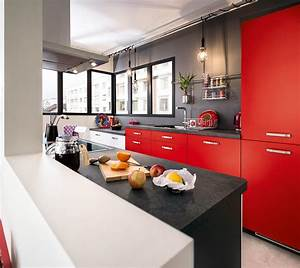 Rouge Brique Avec Quelle Couleur : quelles couleurs associer dans une cuisine rouge marie claire ~ Melissatoandfro.com Idées de Décoration