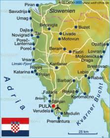 Istria Croatia Map