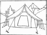 Coloring Pages Tent Camping Printable Camp Sheets sketch template