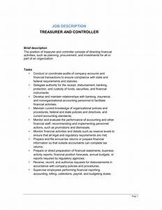 treasurer and controller job description template With technical documents job