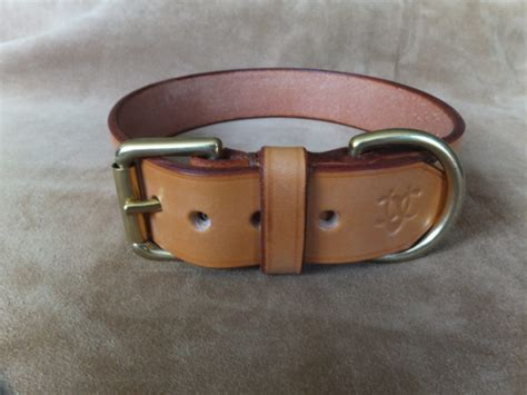 wide collar dog leather collars dogs hide