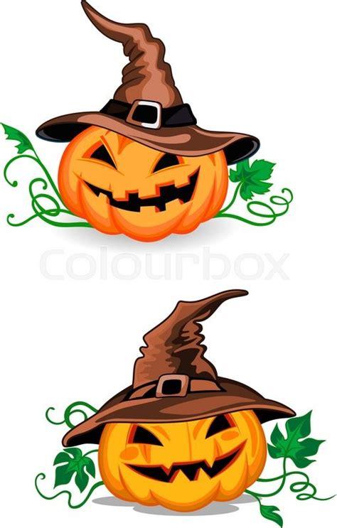 cute pumpkin halloween lanterns  stock vector