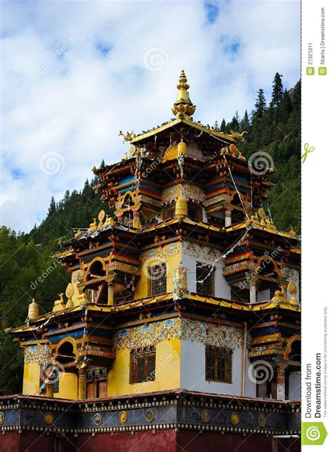 tibet style buddhism temple stock image image