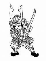 Samurai Coloring Printable sketch template