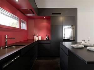 Schwarze Möbel Welche Wandfarbe : 66 wandgestaltung k che ideen wie erreicht man den erw nschten k chen look ~ Bigdaddyawards.com Haus und Dekorationen