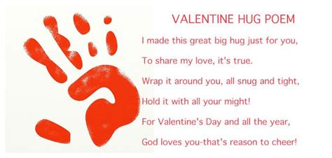 hug craft for preschoolers 292 | Valentine hug poem