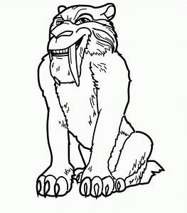 Saber Tooth Coloring Pages Coloring Pages