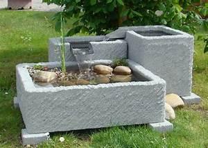 Springbrunnen brunnen wasserspiel granitwerkstein stein for Französischer balkon mit garten terrasse stein