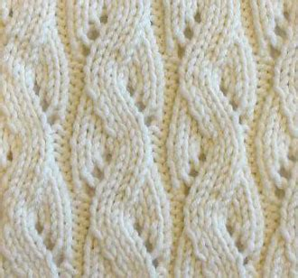 mock cable eyelet knit stitch knitting kingdom