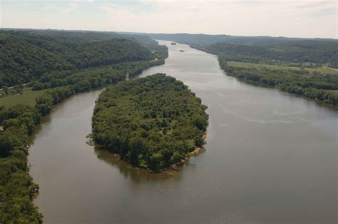 picture aerial ohio river islands wilderness refuge