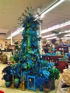 Peacock Decorated Christmas Tree