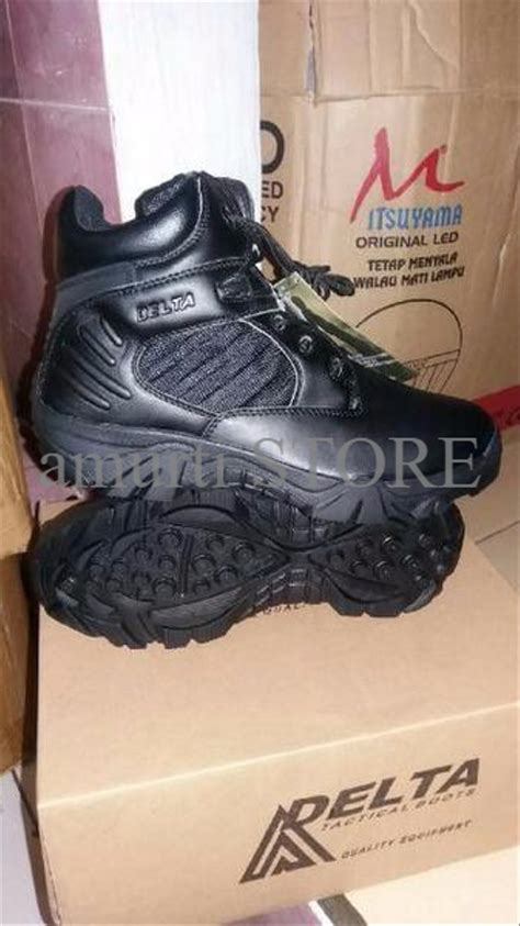 jual promo sepatu tactical army delta 6 inc warna hitam