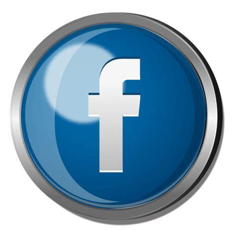 Facebook botón redondo de metal - Descargar PNG/SVG ...