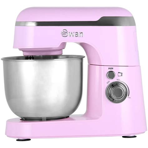 swan retro mixer food mixers stand pink bowl ao argos litre currys cheapest deals prices