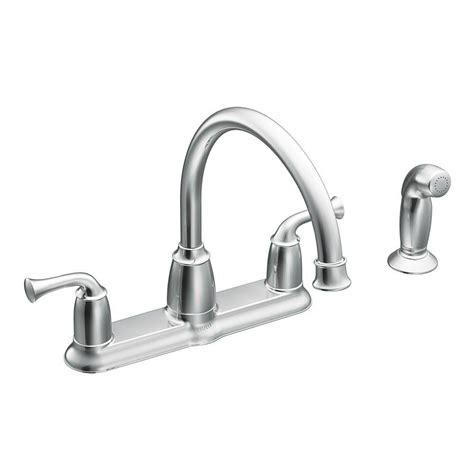 home depot moen kitchen faucets moen banbury 2 handle mid arc standard kitchen faucet with