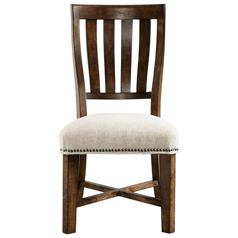 broyhill furniture pieceworks side chair with upholstered