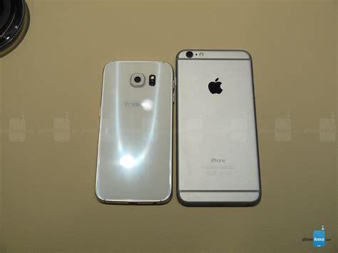 iphone 6 plus apple samsung galaxy s6 vs apple iphone 6 plus look