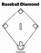 Baseball Coloring Stadium Clipart Diamond Popular Colouring Library Clip sketch template