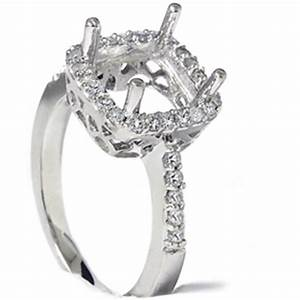 1 2ct princess cut halo diamond engagement ring setting ebay With wedding ring halo settings