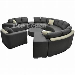 Canapé Cuir Fauteuil : canap rond en cuir alicante 3 modules 3 places pop ~ Premium-room.com Idées de Décoration