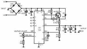 Lm723 Variable Power Supply Circuit Design Electronic Project